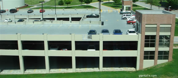 A campus parking facility