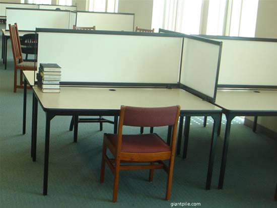 Study area in a library